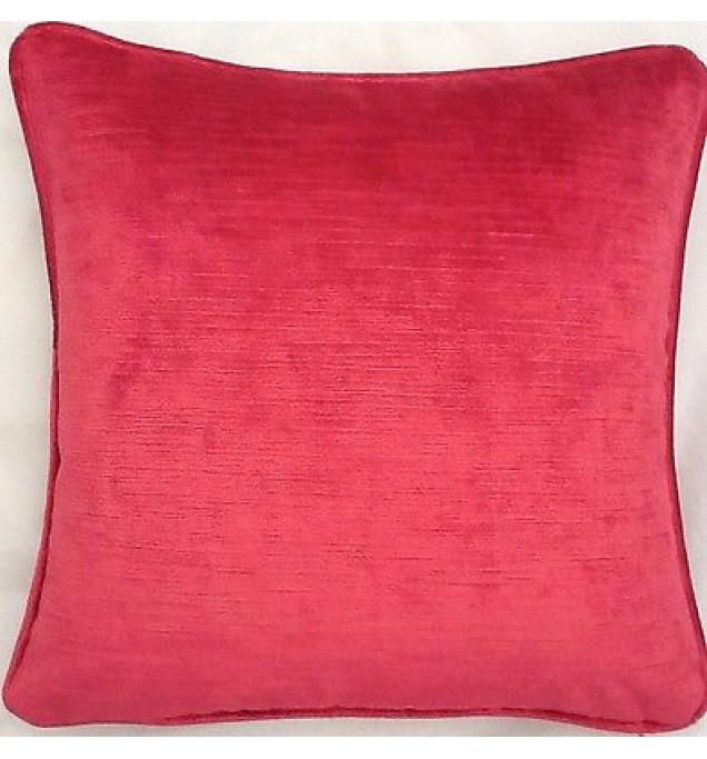A 16 Inch Cushion Cover In Laura Ashley Villandry Cranberry Velvet Fabric