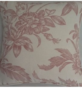 A 16 Inch Laura Ashley cushion Cover In Lloyd Chalk Pink fabric