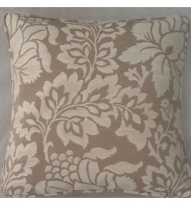 A 16 Inch Cushion Cover In Laura Ashley Acanthus Tomato Fabric