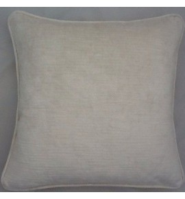 2 X 16 Inch Cushions And Inners In Villandry Off White Velvet Fabric