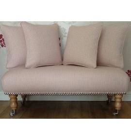 Long Footstool Stool & 4 Cushions Laura Ashley Miller Cyclamen Fabric