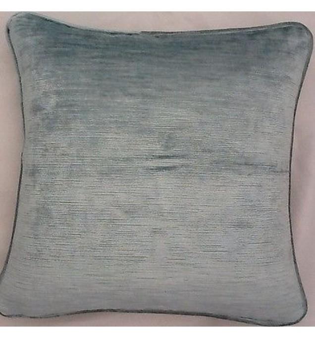 2 X 16 Inch Cushions And Inners In Laura Ashley Villandry Duck Egg Velvet Fabric