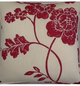 A 16 Inch Laura Ashley cushion Cover In Marciana Cranberry fabric